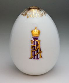 antique Russian porcelain egg with Imperial cipher of Grand Duck Paul Alexandrovich