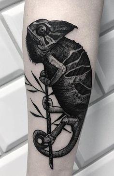 7fca93d96 16 best Chameleon Tattoo images in 2017 | Chameleon tattoo ...