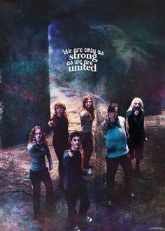 Harry,Hermione,Ron,Ginny,Neville, Luna❤️Fav gang