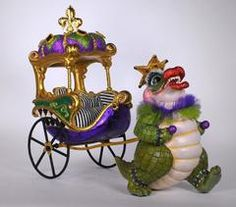 "Katherine's Collection 13"" Captain Bayou Gator Chariot ( Chariot Only) Free Ship"