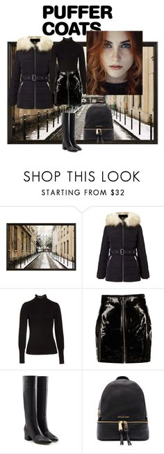 """""""Total black"""" by ghilby90 ❤ liked on Polyvore featuring Pottery Barn, Miss Selfridge, Rebecca Taylor, Boohoo, Sergio Rossi and Michael Kors"""