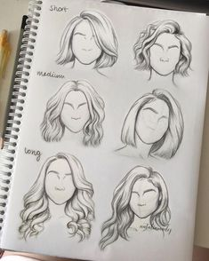 Pin By Abbmdavenport On Hairs How To Draw Hair Hair Sketch Art- hairstyles drawing short tomboy hairstyles drawing Drawing Techniques, Drawing Tips, Drawing Reference, Hair Styles Drawing, Hair Reference, Short Hair Drawing, Drawing Drawing, Girl Hair Drawing, Learn Drawing