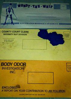 Check out this item in my Etsy shop https://www.etsy.com/listing/579632075/3-vintage-gag-envelopes-humorous-revenge
