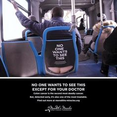 Colon Cancer Charitys Brilliant Ads Are A Little Bit Cheeky image