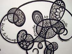go with the flow zentangle (c) Colleayn Klaibourne