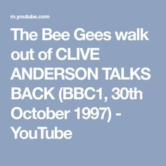 The Bee Gees walk out of CLIVE ANDERSON TALKS BACK (BBC1, 30th October 1997) - YouTube
