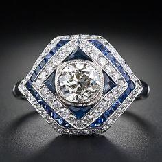 Art Deco Style .90 Carat Diamond Dome Ring