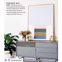 #Repost @aimeestylist with @repostapp. ・・・ @louisedewegerartist minimal artwork looking incredible in the annual issue of @adoremagazine home design by @littlelibertyrooms styling by me and 📷 @hannahblackmore style assist @thehappinesslady #art #adore #artwork #minimal #colour #interiorinspo #interiorstyling #interiors
