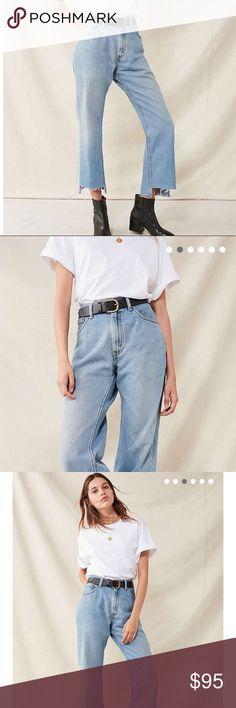 Levi's Redone Vintage Levis with a step hem Levi's Jeans Straight Leg