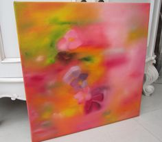 Summer, oil painting, original painting, colourful painting, flower painting, abstract painting, painting, wife gift, birthday gift, gift by AngelAtMyEasel on Etsy