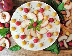 Raw vegan white peach cheesecake