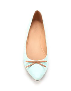 POINTED BALLERINAS WITH BOW - Flats - Shoes - Woman - ZARA United States