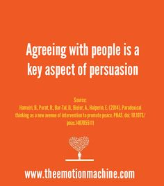 Instead of arguing with people, new research shows that agreeing with people can be a key aspect of persuasion. This is especially true if you agree with a person's key beliefs and then present them in an extreme way. By doing this, people become more aware of the absurdity of their beliefs and are more likely to adjust them on their own, rather than being confronted to change them directly.