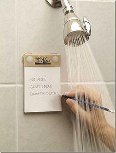 Pensando no chuveiro