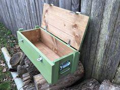 Military Ammo Box Crate Version Choose an optionDIY Kit DIY Kit Unfinished BoxFinished Box StainedFinished Box GreenFinished Box StainedFinished Box GreenFinish Old Tool Boxes, Wooden Tool Boxes, Wood Boxes, Ammo Boxes, Wood Crate Shelves, Wood Crates, Wood Pallets, Wooden Storage Crates, Diy Pallet Projects