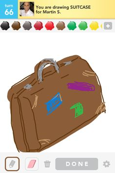 I am drawing SUITCASE...   >>my draw some art on iPhone