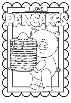 2 coloring posters to celebrate Pancake Day, or to tell everyone how much you love pancakes!***FREE*** 2 coloring posters to celebrate Pancake Day, or to tell everyone how much you love pancakes! Preschool Printables, Preschool Activities, Pancake Day Free Printables, Party Activities, Book Activities, Church Activities, Party Games, Pancake Day Crafts, Pancake Party