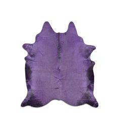 Violett Kuhfell Farbe lila Teppich Rindleder Druck  por PuraSpain