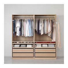 Compact Pax Wardrobe Ikea System For Easy Clothes Organizing Ideas. Marvelous Clothes Portable Wardrobe Design Using Oak Stained Pax Wardrobe Ikea System Featuring Two Section Hanging Cloth Ikea Living Room Furniture, Wardrobe Furniture, Armoire Ikea, Ikea Drawers, Portable Wardrobe, Portable Closet, Bedroom Closet Design, Closet Designs, Walk In Closet Ikea