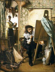 Artist in his Studio - Eduard Charlemont - (Austrian, 1848-1906)