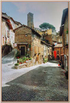 Sutri, Lazio. Vicolo, province of Viterbo