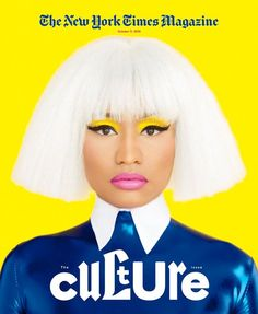 Nicki Minaj Calls Out Miley Cyrus Again: 'You Can't Want the Good Without the Bad' Nicki Minaj is all about color on the cover of New York Times' magazine. Here's what the rapper had to share with the mag: On calling out Miley… Time Magazine, New York Times Magazine, Cool Magazine, Magazine Wall, Magazine Layouts, Web Magazine, Nicki Minaj Miley Cyrus, New Nicki Minaj, Nicki Manaj