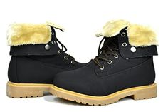 stunning DREAM PAIRS LUGG Womens Winter Fur Lined Lace up Snow Ankle Durable Outsole Booties Boots