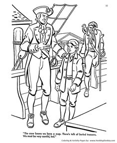 Treasure Island Coloring pages   Kids Adventure Story by Robert ...