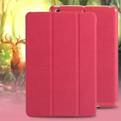 for iPad 2 3 4 Smart Case Luxury Deer Leather Cover for apple ipad2 ipad3 ipad4 Stand Folded Sleep Awake Tablets Bags Casual