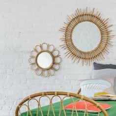 Miroirs en rotin Marguerite et Planète KOK Maison Miroir En Rotin,  Marguerite, Miroirs, 6aad64570fcb