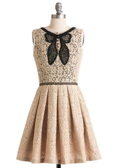 In Love with Life Dress #ModCloth $297.99 (Lace and Bows and Pretty, Oh My!)