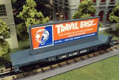 Add a little traveling advertising to your rails with the MTH RailKing O Gauge Flat Car with Billboard. These Billboard flats come in Long Island 30-76568, Esslinger's Lager Beer 30-76570, and Rodin Hood Beer 30-76570, road names. These flat cars operate on O-27 curves and have a MSRP of $49.95. Ask your MTH Dealer about getting one this week. 2/17/15