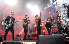 The boys performing on GMA