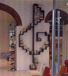 Music note bookshelf. I love it!