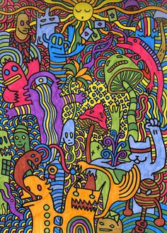 Psychedelic Cartoons | The first psychedelic trip by Spank-the-racoon