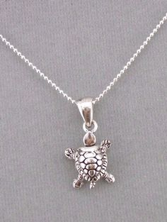 925 Sterling Silver Turtle Pendant Necklace Jewelry NEW #Unbranded #Pendant