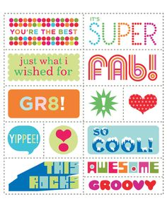 Easy to print, cut, and use, this clip art is perfect for small hands and kids' projects -- plus it's just plain fun.