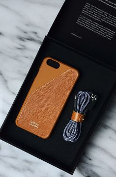 Understated luxury. Native Union's Leather Edition Set in Gold Tan. The perfect stylish gift for any stylish gent. Iphone case and charger by Native union. http://www.nativeunion.com