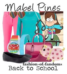 """""""Mabel Pines"""" by fofandoms ❤ liked on Polyvore featuring Moschino, MABEL, maurices, DB Designs, Swatch, H&M and Betsey Johnson"""