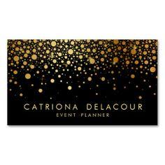 Shop Faux Black and Gold Foil Confetti Favor Sticker created by misstallulah. Foil Business Cards, Gold Business Card, Custom Business Cards, Business Card Design, Business Ideas, Creative Business, Vip Card, Bussiness Card, Teal And Gold