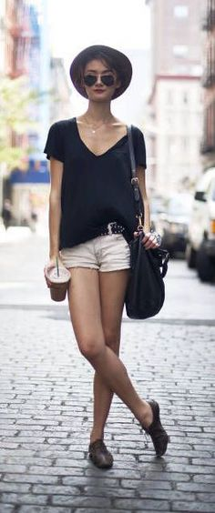 #summer #fashion / parisian casual chic