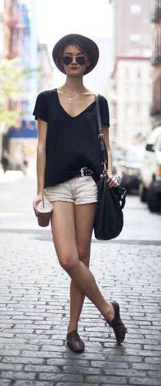 #summer #fashion / parisian casual chic