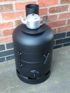15kg gas bottle woodburner / log burner / heater / vw camper / boat stove / shed