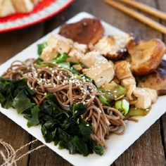 Vegan Soba Noodle Bowl ~ here's to your health!