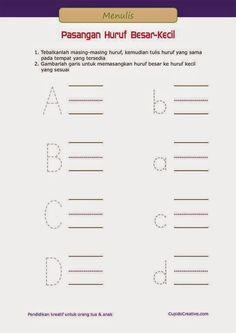 50 Belajar Menulis Huruf Images Education Flashcards Kids And Parenting