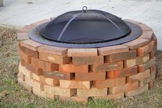Brick Firepit - Made with scraps from the old walkway