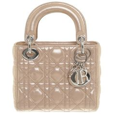 "Pre-owned """"Mini Lady Dior"""" ($1,745) ❤ liked on Polyvore featuring bags, handbags, nude, strap purse, miniature purse, christian dior purses, pre owned purses and print purse"
