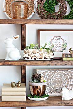 DIY Farmhouse Shelves - Nest of Posies
