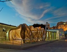 tomás amat estudio bases the cicada pavilion on insect morphology Wood House Design, Modern House Design, Modern Houses, Light Art Installation, Alicante Spain, Digital Fabrication, Parametric Design, House In The Woods, Design Process