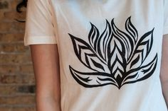 Lotus Flower T-Shirt High-Low T-Shirt Woman T-Shirt by Aquani